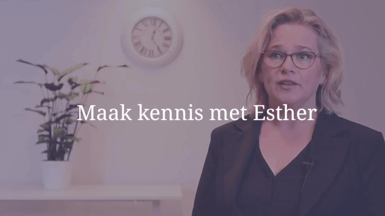 YouTube Screenshot van Esther van Diepen
